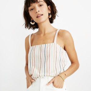 [madewell] NWT rainbow stripe side-button cami top